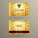 VIP karty szablon Ilustracji