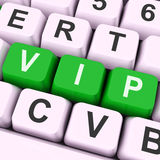 VIP Key Means Dignitary Or Very Important Person Royalty Free Stock Images