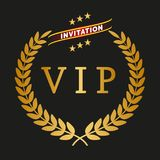 Vip label. On black background,  illustration Stock Photography