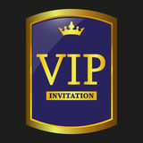 Vip label vector. Vip label on black background, vector illustration Royalty Free Stock Images