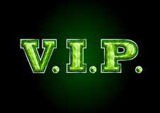 VIP. letter diamond Royalty Free Stock Photo