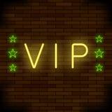 VIP Logo Neon Colorful Sign Insegna della città di notte illustrazione vettoriale