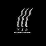 Vip logo, silver important person on a black. Background vector Royalty Free Stock Images