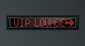 VIP Lounge arow LED digital Sign Stock Photos