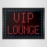 VIP Lounge LED digital Sign Royalty Free Stock Photo