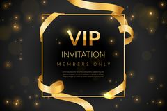 Free VIP. Luxury Gift Card, Vip Invitation Coupon, Certificate With Gold Text, Exclusive And Elegant Logo Membership In Stock Images - 168554944
