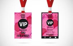 Vip member card set vector design illustration Stock Photos