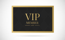 Vip member card vector design illustration Royalty Free Stock Images