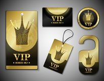 VIP Member Elements Design Template Royalty Free Stock Image
