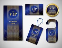 VIP Member Elements Set Royalty Free Stock Photography