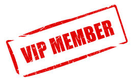 Vip member stamp. Isolated on white stock illustration