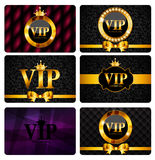 VIP Members Card Set Vector Illustration. EPS10 Royalty Free Stock Image