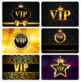 VIP Members Card Set Vector Illustration. EPS10 Royalty Free Stock Photo