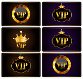 VIP Members Card Set Vector Illustration. EPS10 Stock Photography