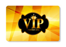 VIP Members Card Vector Illustration Stock Image