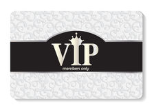 VIP Members Card Vector Illustration Royalty Free Stock Photography
