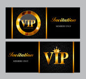 VIP Members Card Vector Illustration Royalty Free Stock Image
