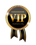 VIP Members Label Vector Illustration Stock Image
