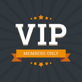 VIP - members only vector background card template. With stars and ribbon Royalty Free Stock Image