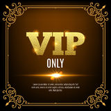 VIP members only. Vip persons background. Vip club banner design invitation. Golden letters. Stock Photos