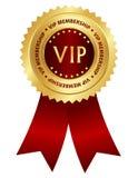 VIP membership award ribbon rosette Royalty Free Stock Photos