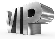 VIP metal - 3d letters  on white. Side view Stock Images