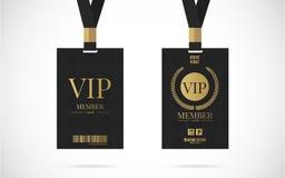 Vip-Mitgliedskartensatz-Vektordesignillustration Stockbild