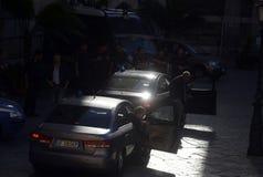 VIP motorcade in Palermo. Sicily. Italy. Stock Image