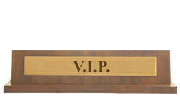VIP name plate Stock Photos