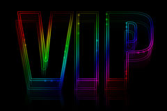 VIP neon sign Royalty Free Stock Image
