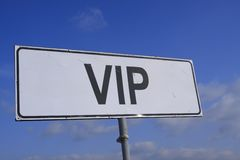 VIP old guidepost Royalty Free Stock Photography