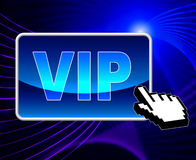 Vip Online Means World Wide Web And Important Royalty Free Stock Photos