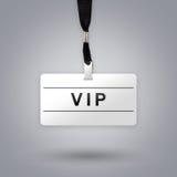 VIP ou personne très importante sur l'insigne Photos stock