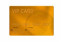 VIP par la carte de crédit Photo stock