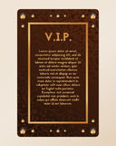 VIP party invitation. The certificate with diamonds. Vector of banner with amber. Stock Photos