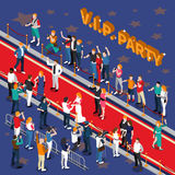 Vip Party Isometric Illustration Stock Images
