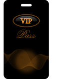 VIP pass Stock Image