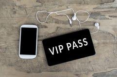 Vip Pass on digital tablet computer. Stock Image