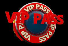 Vip pass sign Stock Photos