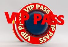 Vip pass sign Royalty Free Stock Image