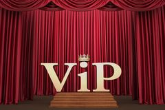 VIP on pedestal on the scene illumination a searchlight Royalty Free Stock Image