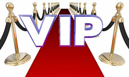 VIP Person Red Carpet Letters Event muito importante Foto de Stock Royalty Free