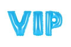 VIP, personne très importante, couleur bleue Images stock