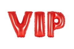 VIP, personne très importante, couleur rouge Photo libre de droits