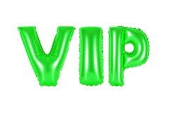 VIP, personne très importante, couleur verte Photos libres de droits