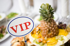 VIP place at the table Royalty Free Stock Images