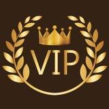 VIP podpisuje symbol prawdziwej znacząco osoby klubu złocistej etykietki wyłączną koronę Obraz Stock