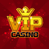 VIP poker luxury casino logo concept Royalty Free Stock Photos