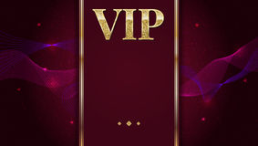 VIP premium invitation card, poster or flyer for party. Golden design template with glittering shine text. Decorative vector illustration