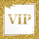 VIP premium invitation card, poster or flyer for party. Golden design template with glittering shine text. Decorative. VIP premium card. Golden design template royalty free illustration